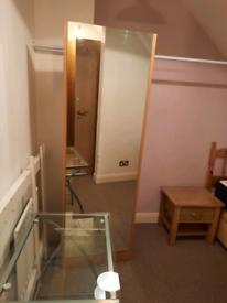 Wardrobe / MirrorStand Alone Full Body with small wardrobe behind it.