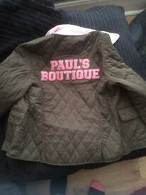 Pauls boutique quilted jacket size L 12-14