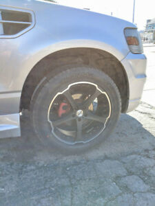 "20"" Ikon Rims with Brand New Hankook Ventus Tires"