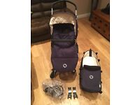 Bugaboo Cameleon 3 in Navy with footmuff & car Adapters (used since March 2015)