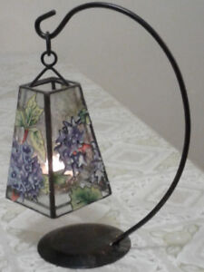 Stained glass candle light