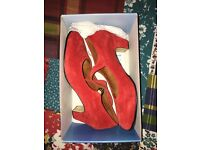 Red Flamenco Dancing Shoes