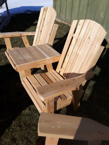 DUTCH LOCALLY MADE MUSKOKA AND GRANPA CHAIRS