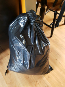 Garbage bag of clothes