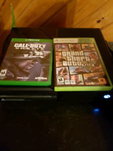 Xbox one with kinect and a couple games