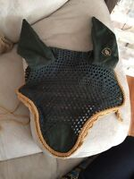 B&R fly veil, hunter green and gold. Size M