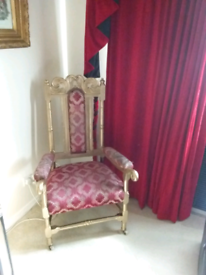 Antique throne chair upcycle project