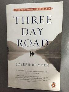 THREE DAY ROAD by JOSEPH BOYDEN