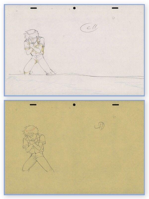 Akira Anime Genga Set for Cel Animation Art Kaneda Wretching アキラ Otomo COA 1988