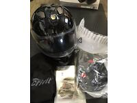 Flip up black motorcycle Helmet Small S