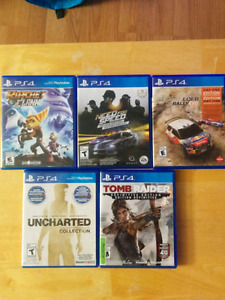 PS4 games up for trade !