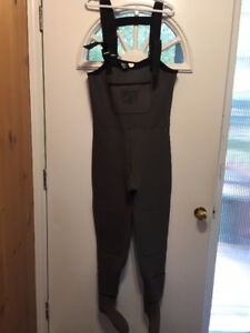 """""""DRY FLY"""" Neoprene Fishing Waders, size large, like new!"""