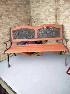Wood and Cast Iron Park Bench