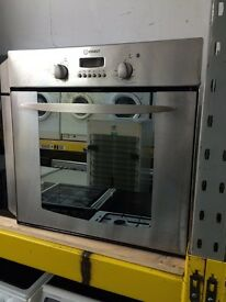 Stainless steel indesit 60cm integrated electric grill & fan oven good condition with guarantee