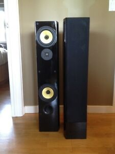 2 Digital audio 3' piano black tower speakers