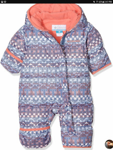 COLUMBIA Snuggly Bunny Bunting Bluebell Fairisle 12-18 months