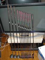 12 pce set of ladies golf clubs + golf bag + golf cart
