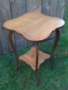 Antique hardwood casual table