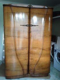 Wardrobes - 2x beautiful antique real polished hardwood