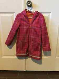 Pink and orange rain jacket in size 4/5
