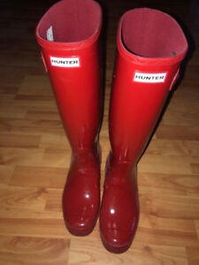 Red Hunter Boots size 8 $80