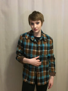 Vintage 60s plaid woolen jacket