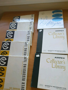X8 new sealed reel to reel tapes
