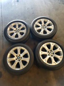 19 Inch BMW rims with Michelin Latitude Touring tires.
