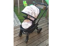 Icandy pram limited edition world peach stroller £700 ono