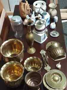 Many collectable items vases to old bottles and brass London Ontario image 2