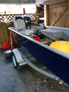 Mint 16' Mirrocraft with 15hp Yamaha and trailer!