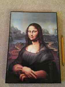 Mona Lisa Ish print on wood Kitchener / Waterloo Kitchener Area image 1