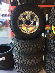 4 New | Mud Tires and Wheels 285/70R17 | Ford 250 | Ford F350