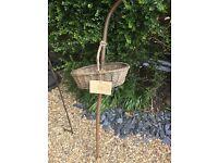 Wicca gardening basket and walking stick disability gardening
