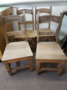 4 wood antique chairs - chaises