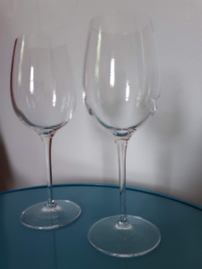 White Wine Glasses Made in Italy in their Boxes!!