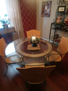 Glass Tabletop Dining Set