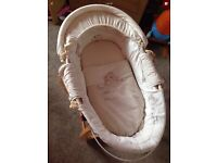 **REDUCED FOR QUICK SALE**Mamas and Papas - Once Upon A Time Moses basket and stand. (OVNO)