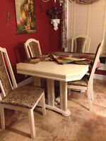 kitchen table set and buffet