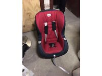 Britax red car seat and base £50