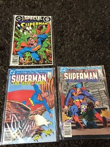 DC- Superman comics from mid 80s- lot of 3