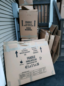 Lots of Moving Boxes and Packing Material