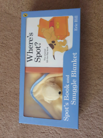 Brand new spot the dog book and blanket