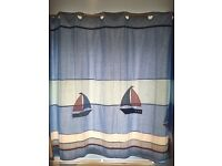Laura Ashley blue boat curtains