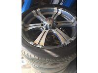 "20"" Mitsubishi shogun / L200 alloy wheels and tyres"