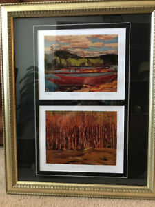 Group of Seven numbered double prints with COA