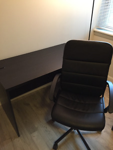 Desk and Chair - IKEA, excellent quality