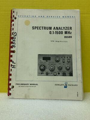 Hp 08558-90006 Spectrum Analyzer 8558b Preliminary Operating Service Manual