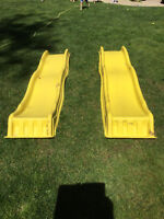 Two Cool Wave Slides for Playset
