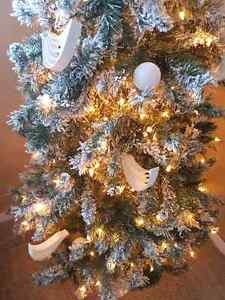 OR BEST OFFER Beautiful 6.5' flocked snow Christmas tree